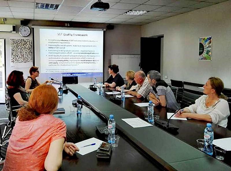შეხვედრა ევროკავშირის დასაქმებისა და პროფესიული განათლების რეფორმების ტექნიკური დახმარების პროექტის ექსპერტთან