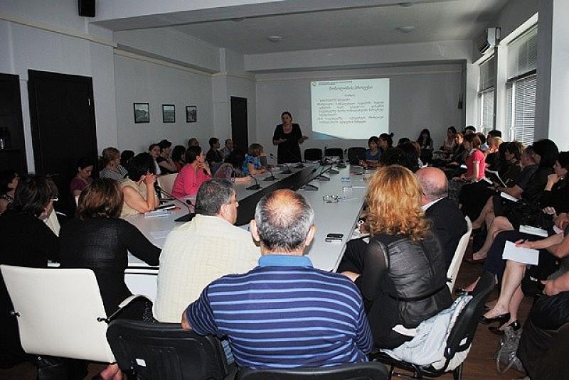 საინფორმაციო შეხვედრა უმაღლესი საგანმანათლებლო დაწესებულებების წარმომადგენლებთან